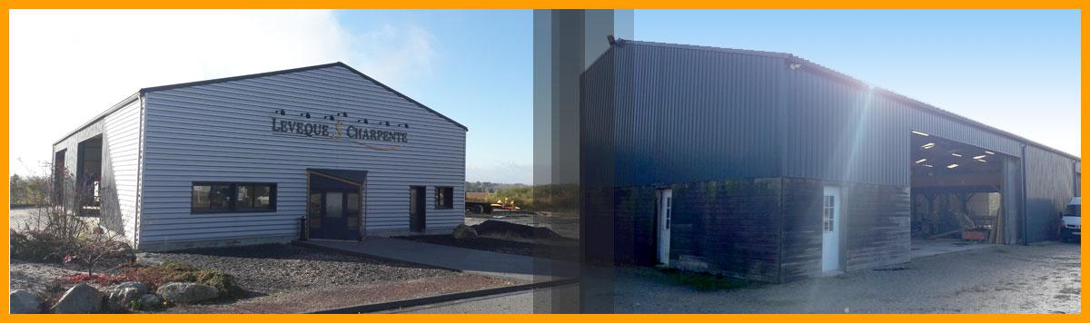 LEVEQUE S CHARPENTE – Étude, construction et montage de bâtiments en charpente bois lamellé collé et charpente mixte (bois lamellé collé et métal/béton) dans l'Orne (61), en Normandie.